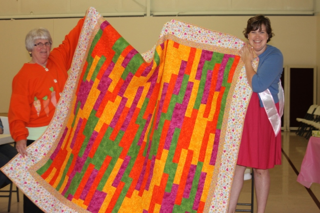 an incredible quilt made by Caren Demien