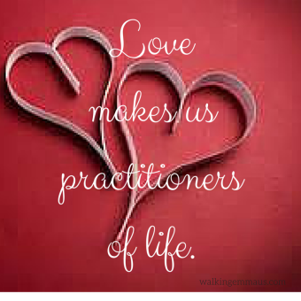 Love makes us practitioners of life.